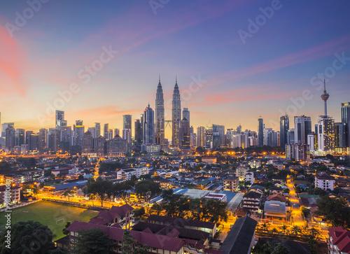 Photo Stands Kuala Lumpur KUALA LUMPUR, MALAYSIA - December 27, 2015; Kuala Lumpur, the ca