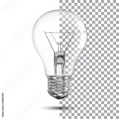 Photo  Realistic bulb. Vector Illustration