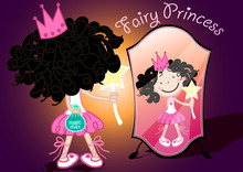Fairy Princess Holding A Bag O...