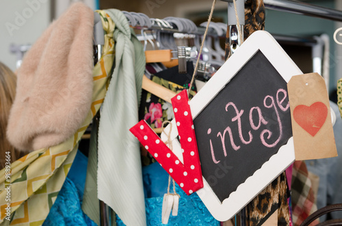 vintage style clothes rail uk, england, morecambe, 08/16/2015, vintage second hand clothes rail, Design ideen
