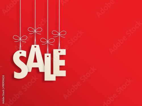 Fotografie, Obraz  Suspended SALE letters on red background