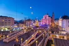 Ljubljana In  Christmas Time, Slovenia.
