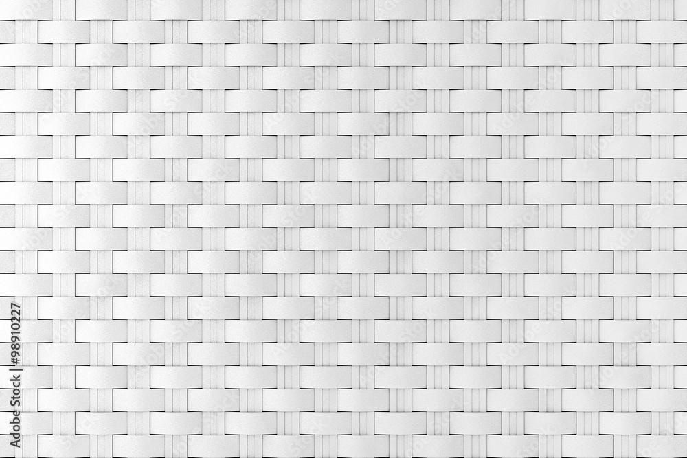 White wicker pattern as background