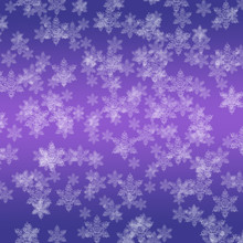 Snowflakes On A Purple Colored...