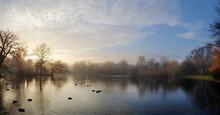 Pretty Landscape Of The Lake