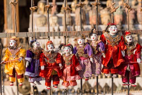 Garden Poster Fairytale World Puppet souvenir, Myanmar tradition dolls.