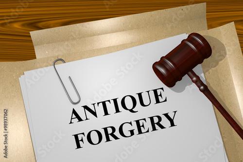 Fotografia, Obraz  Antique Forgery concept