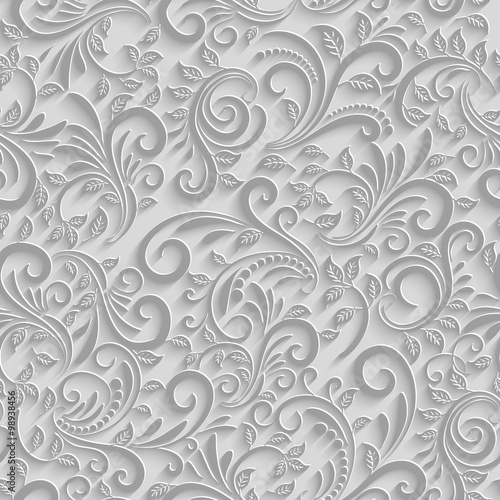 papier-3d-kwiatowy-wzor