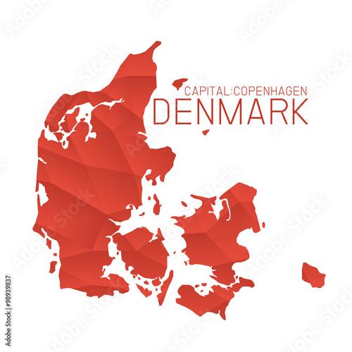Fotografie, Obraz Denmark map