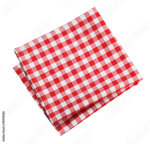 Fotografie, Obraz  Table cloth kitchen red color isolated.