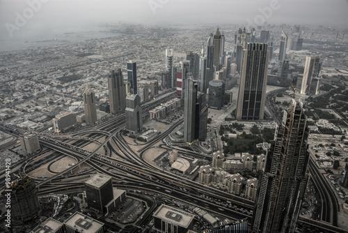Tuinposter Dubai viewed from Burj Khalifa