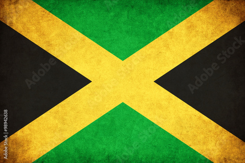 Fotomural Jamaica grunge flag illustration of country