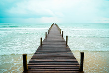 Wooden Pier Toward The Fresh B...
