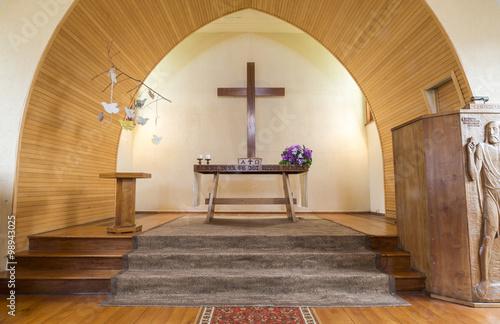Foto CHURCH, FRUTILLAR-NOV 16, 2015: located in southern Chile in the Los Lagos Region