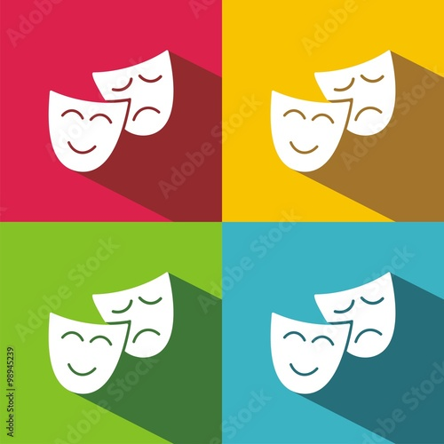 Fotografía  Icono Teatro Máscaras COLORES SOMBRA