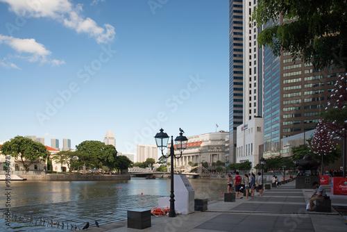 Photo  Singapore-December 2015.Bonham Street in Raffles Place in Singap