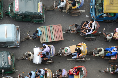 Fotografering  Traffic in Dhaka, Bangladesh