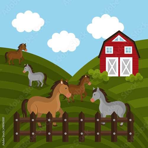 Wall Murals Ranch Farm fresh graphic