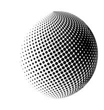 Halftone Globe, Sphere Vector ...