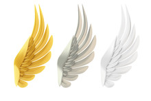 Golden, Silver And White Wings...