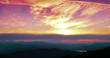 sunset scene with mountains in background time lapse, colorful sky with soft clouds 4K and HD