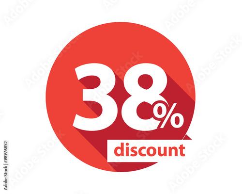 Tela  38 percent discount  red circle