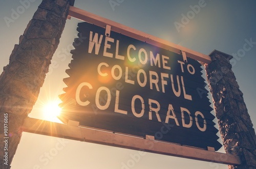 Welcome in Colorado Sign