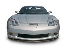 Silver Sports Car, Front View