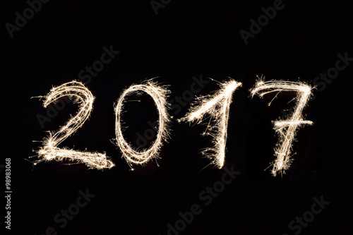 2017 Written with Fireworks Poster