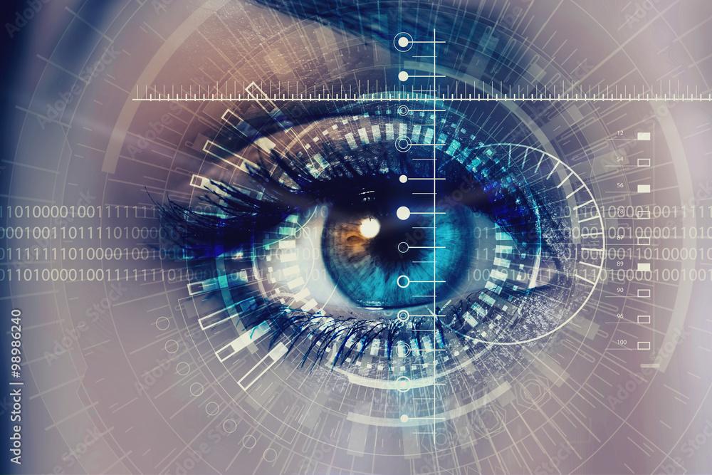 Fototapeta Female digital eye