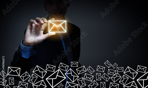 Fotografie, Obraz  Business email concept