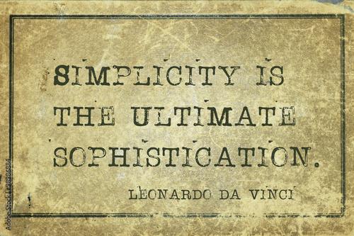 Obraz na plátne Simplicity is DaVinci