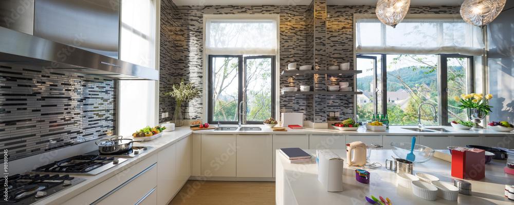 Fototapeta interior of modern kitchen