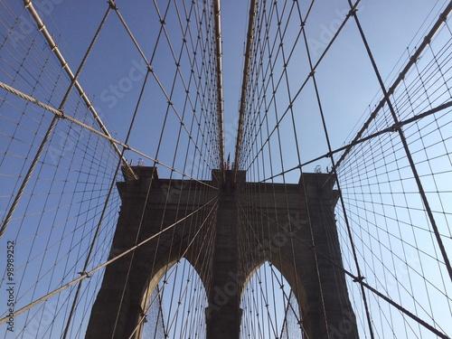 Poster Brooklyn Bridge Famous Brooklyn Bridge in NYC, USA.
