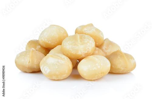 Fotografie, Obraz  macadamia nuts on white background