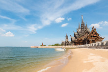 Thailand Scenery Of The Sanctuary Of Truth