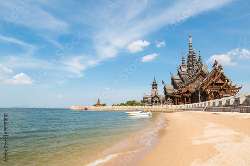 In de dag Monument thailand scenery of the sanctuary of truth