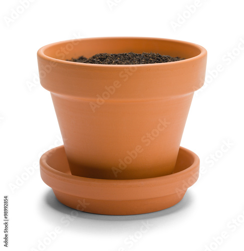 Fotografie, Obraz  Orange Pot With Dirt
