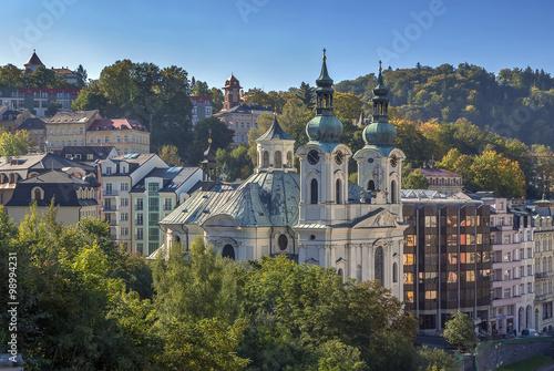 Obraz na plátně  View of Karlovy Vary, Czech republic