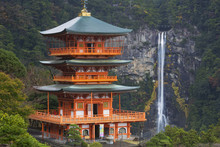 Pagoda And Nachi Falls In The ...