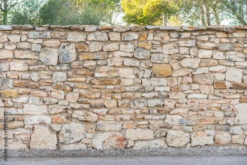 Garten Mauer Zaun Steine Buy This Stock Photo And Explore Similar