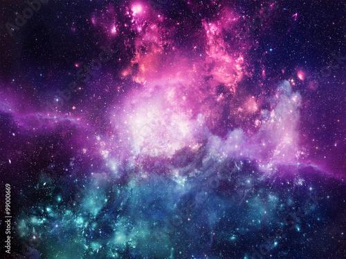 Obraz Universe filled with stars, nebula and galaxy - fototapety do salonu
