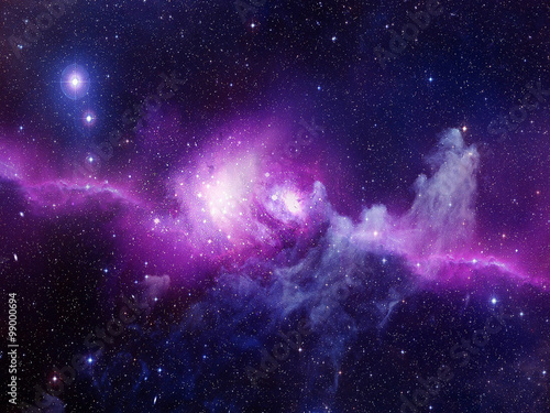 Universe filled with stars, nebula and galaxy Poster