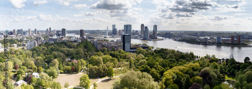 Tuinposter Rotterdam The Skyline of Rotterdam Holland