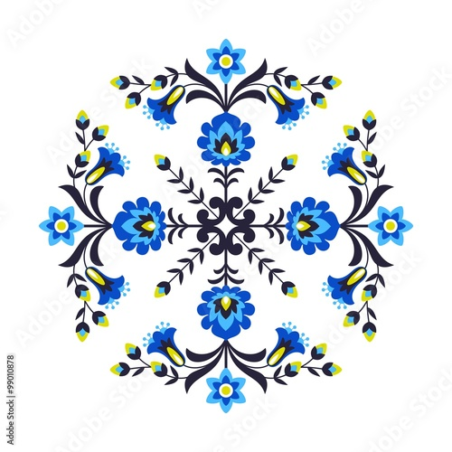 obraz PCV Polish folk flowers