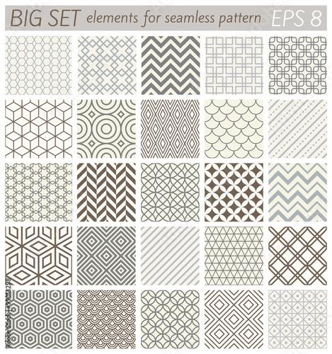 Photo Big set elements for samples geometric vector patterns