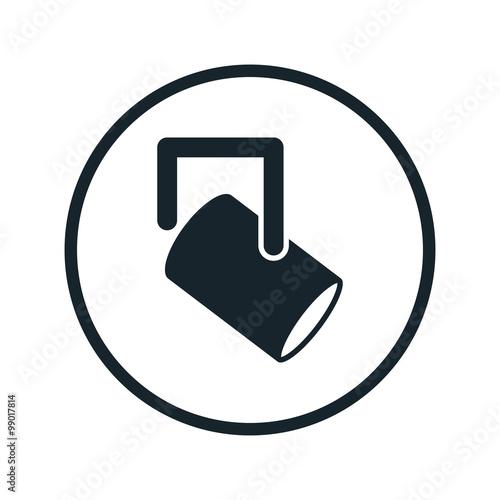 Staande foto Licht, schaduw Spotlight icon