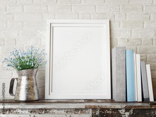 Obraz 3D rendering of frame, hipster concept - fototapety do salonu
