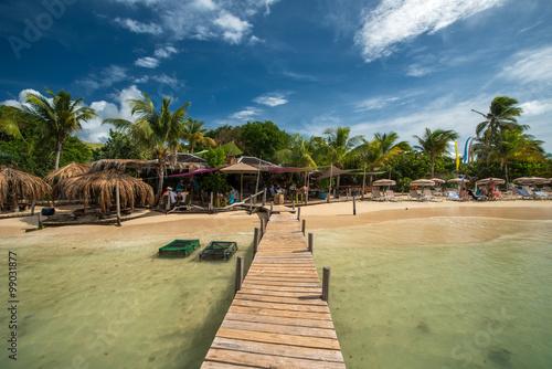 fototapeta na ścianę Pinel island, Caribbean sea