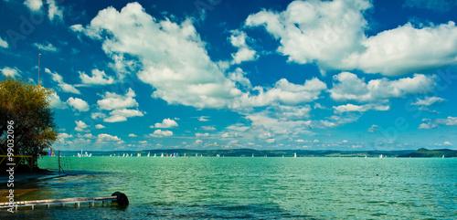 Photo  Lake Balaton with nice clouds